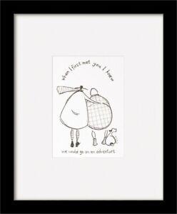 Sam Toft Print Black Wooden Framed 35x35cm When I First Met You