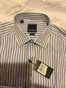 a37811ace NEW David Donahue Mens Trim Fit Striped French Cuff Dress Shirt 16 ...