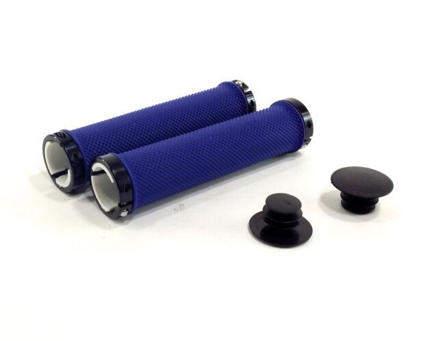 Black VELO Lock-On Grips Rubber 145mm Extra Long