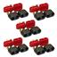 5 Paar Amass T-Dean Deans T-Plug Stecker Buchse Goldstecker mit Schutzkappen 40A