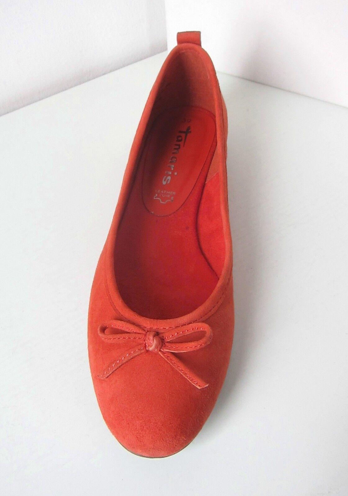 Tamaris Ballerina Wildleder mandarin Gr 40 schuhe suede schuhe 40 orange ballerinas birago 452e1d