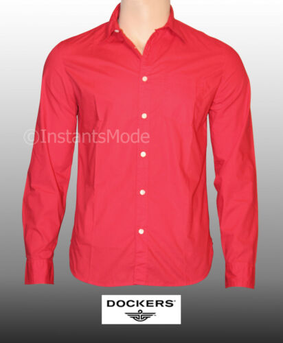 Chemise Homme DOCKERS USA Tailles S-M-L-XL rouge NEUF