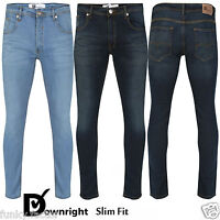 New Mens Boys Branded DOWNRIGHT Designer Jeans Slim Fit Denim Jeans Trouser