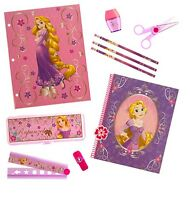 Disney Store Rapunzel Tangled Set Pencil Case Notebook School Supplies