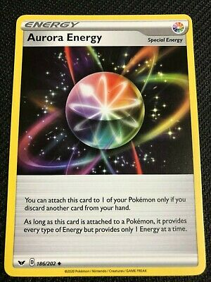 Pokemon Cards Sword And Shield Aurora Energy 186//202 Mint Condition