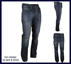 Jeans denim dritto jack&jones uomo rick vintage nero slavato taglia W28 29 nuovo