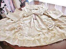 Bodyline Sweet Hime Lolita Tan & Beige Heart Chiffon Trim JSK Dress Size 2L NWT