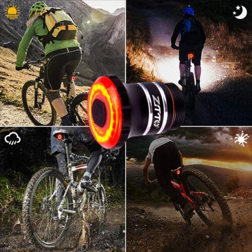 Road MTB Bike LED Rear Light Night Riding Warn Red Tail Smart Brake Back Light