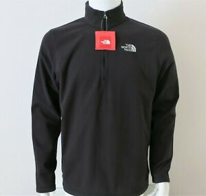 Red Mens TNF The North Face Cinder 100 1//4 Zip Pullover Fleece Baselayer Shirt