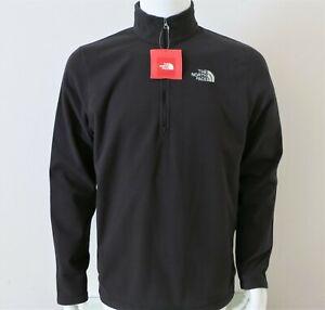 Mens TNF The North Face Cinder 100 1//4 Zip Pullover Fleece Baselayer Shirt Gray
