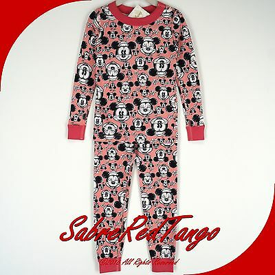 NWT HANNA ANDERSSON ORGANIC LONG JOHNS PAJAMAS MICKEY MOUSE PINK MINNIE 130 8
