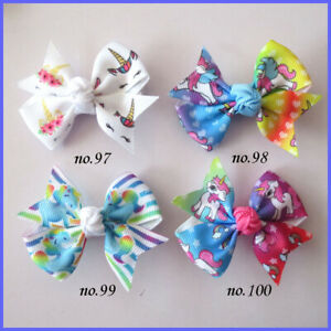"50 BLESSING Good Girl 2.5/"" Wing Hair Bow Clip Christmas Accessories Wholesale"