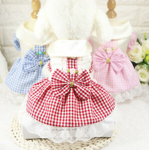 New-Pet-Puppy-Small-Dog-Lace-Princess-Tutu-Dress-Skirt-Clothes-Apparel-Costume