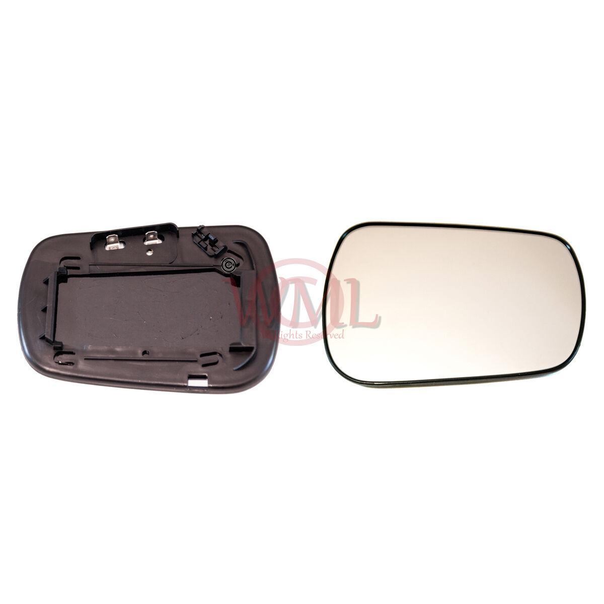 Passenger Side FOFiesta 2001 to 2008 Silver Door Mirror Glass LH