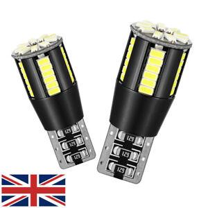 2x-T10-voiture-DEL-Ampoules-Sans-Erreur-Canbus-Xenon-Blanc-W5W-501-Side-Light-12-V