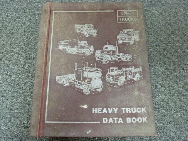 1988 Ford F800 L8000 L9000 Lt8000 Lt9000 Truck Technical