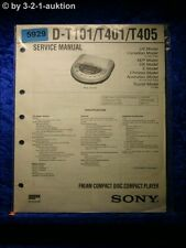 Sony Service Manual D T101 /T401 /T405 CD Player (#5929)