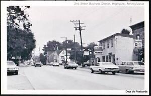 HIGHSPIRE-PA-2nd-Street-Business-District-Fresca-Vtg-Postcard