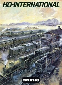 Trix-H0-International-1986-Prospekt-Modelleisenbahn-brochure-model-railway-Bahn