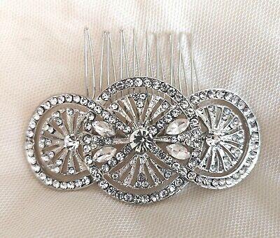 """""""imogen"""" Art Deco Vintage Style Crystal Nuziale Capelli Pettine Anni 1920 Damigella D'onore-mostra Il Titolo Originale Avere Uno Stile Nazionale Unico"""