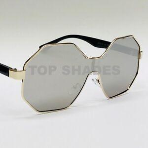 en venta 50358 f98b7 Details about Gafas Lentes de Sol Oculos De Moda Para Mujeres Oro Octágono  NEW Sunglasses 2018