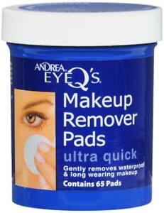 Andrea Eye Qs Ultra Quick Eye Makeup Remover Pads, 65-Count (Pack of 3) Face Scrub with Apricot - Gentle Exfoliating 1.83oz