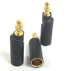 Inquiet C0003c Connecteur Rc 5.5mm Doré Féminin Balle Vers 3.5mm Mâle Bullet Adaptateur