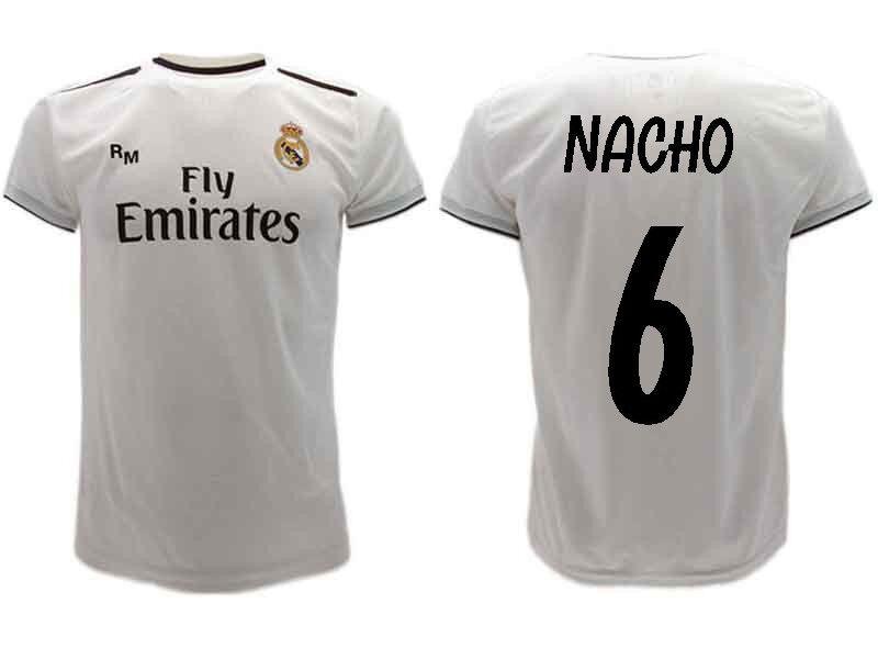 promo code 30b97 8e8a9 Maglia Ufficiale NACHO Real Real Real Madrid FERNANDEZ Ufficiale n.6  Camiseta 2018-2019 55c498