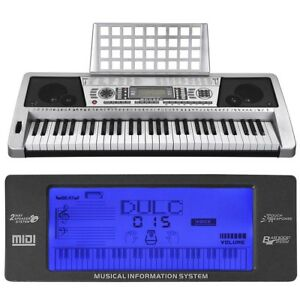 61-Key-Music-Digital-Keyboard-Electric-Piano-LCD-Organ-Talent-Practice-Show-Gift