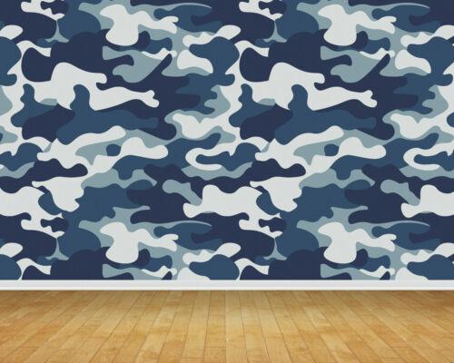Naval Army Camouflage Backdrop Wall Art Mural Wall Paper Self Adhesive Vinyl V1