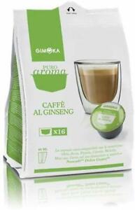 96 Capsule Gimoka Compatibili Nescafè Dolce Gusto Caffè Miscela Espresso Ginseng