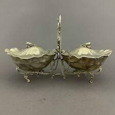 Buccellati Sterling Silver Figural Shell Double Condiment Sauce Boat 925 Italy