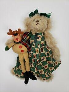 Ganz Cottage Collectibles Kristen Bear 13 With Ganz Reindeer Doll Ebay