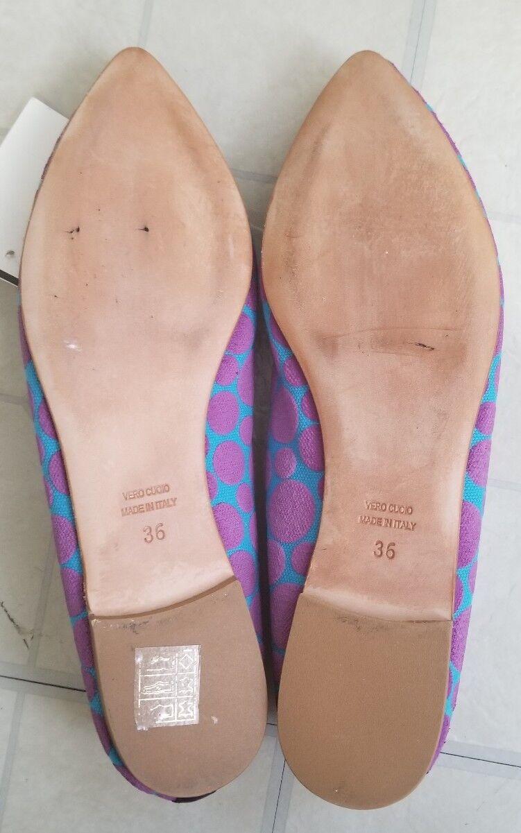 Marco Italian Soft Cotton Cotton Cotton Ballet Flats US6.5/ EU36 New 3a1601