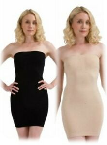 Strapless-Full-Body-Control-Tube-Dress-Colours-Black-Skin-Medium-Large-XLarge