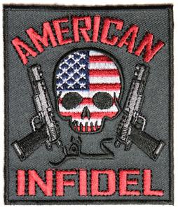 American infidel skull pistols patch kafir unfaithful christian image is loading american infidel skull pistols patch kafir unfaithful christian voltagebd Gallery