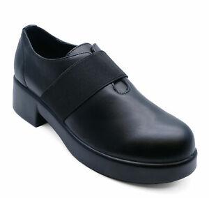 ladies black slipon smart casual work comfortable school