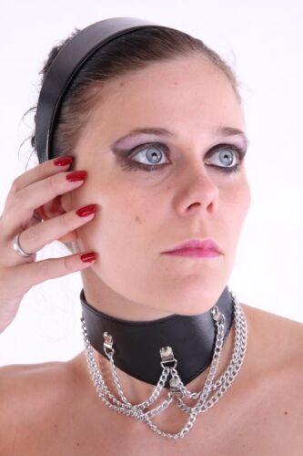 Neck Collar COLLARE in similpelle con catene