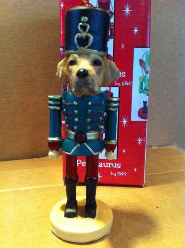 LABRADOR YELLOW ~ NUTCRACKER DOG SOLDIER ORNAMENT #20