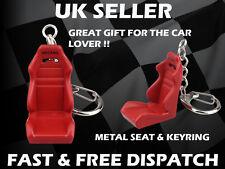 Recaro Style Red Bucket Seat Metal Key Ring Gift Racing Seat Car