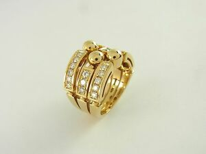 Bulgari Allegra Ring 18 kt Gelbgold 27 Diamanten Größe 55-56 diamond ... 1f840e58cd5