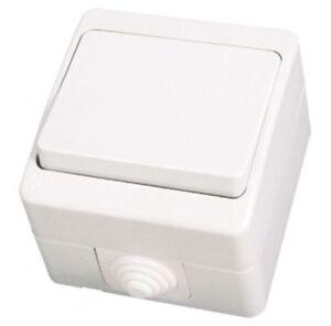 ip54 schalter lichtschalter feuchtraum aufputz weiss. Black Bedroom Furniture Sets. Home Design Ideas