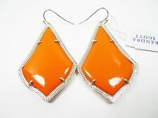 KENDRA SCOTT Lovely Alexandra Gold Plated Orange Glass Dangle Earrings