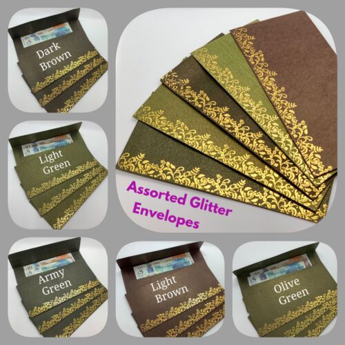 40 X Glitter Envelope Shagun Salami Indian Wedding Christmas Money Gift Wallets