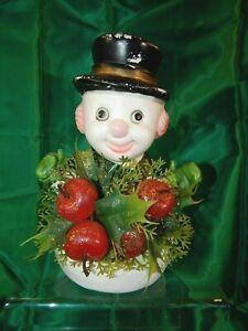 Vintage-1960s-Blow-Mold-Plastic-Christmas-Snowman-Florabelle-Figure-FREE-SHIP