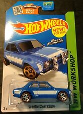 Hot Wheels Super CUSTOM Ford Escort RS1600 Fast N Furious with Real Riders