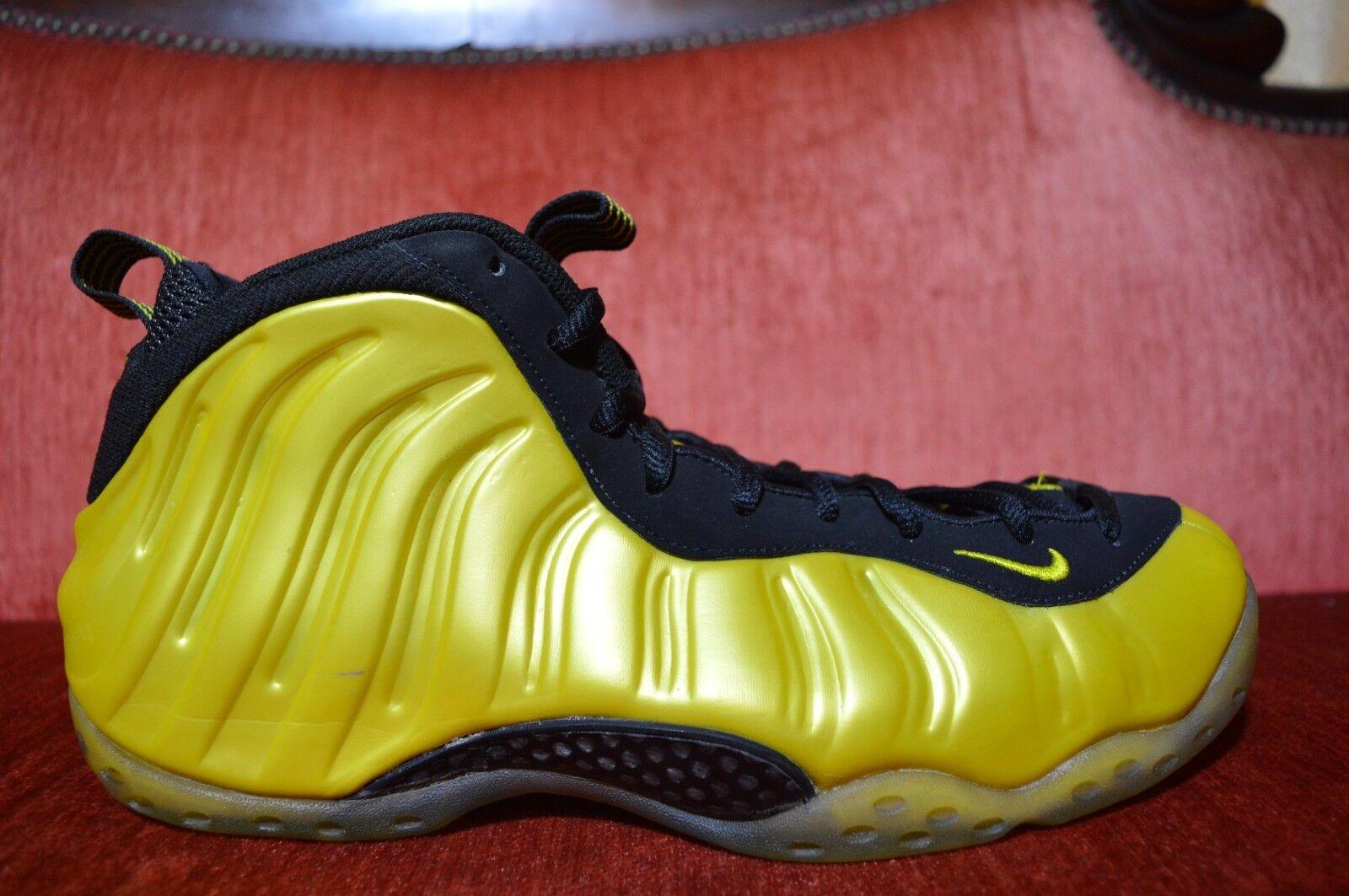 Nike air foamposite uno electrolime 314996-330 giallo verde elettrico numero 11