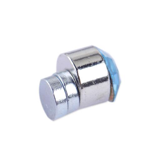 12 Pares Para Hombre Y Mujer No Piercing Oreja Pasador Clip en pendientes redondos Magnético 4mm