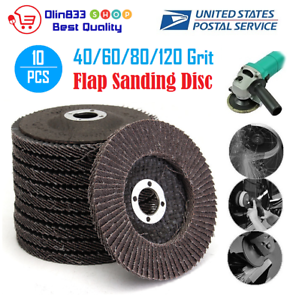 4 Inch 60 Grit  Aluminum Oxide Flap Disc Sanding Grinding Wheels Tool 10Pcs
