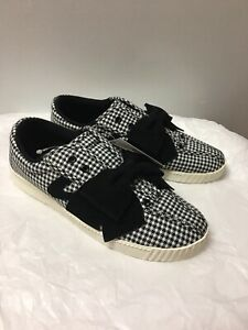 Details about Tretorn Black White Check Nylite Bow Sneaker 9 Women Shoes